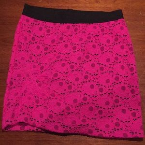Candie's Pink Lace Miniskirt